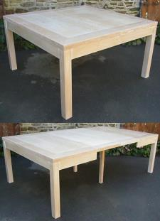 Eb nisterie boursin fr res tables - Table blanche carree avec rallonges ...